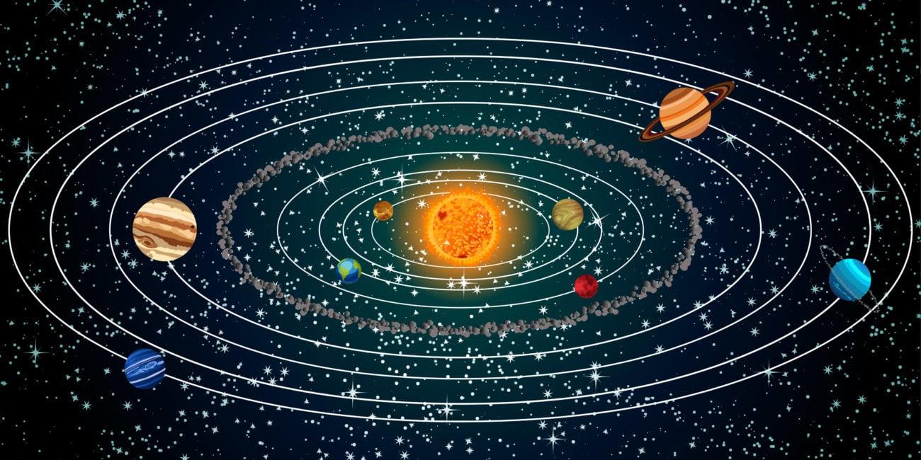 с картинка орбитами системы солнечной